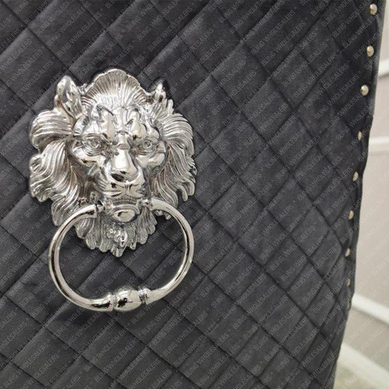 Bentley Chair with Quilted back & Lion Knocker