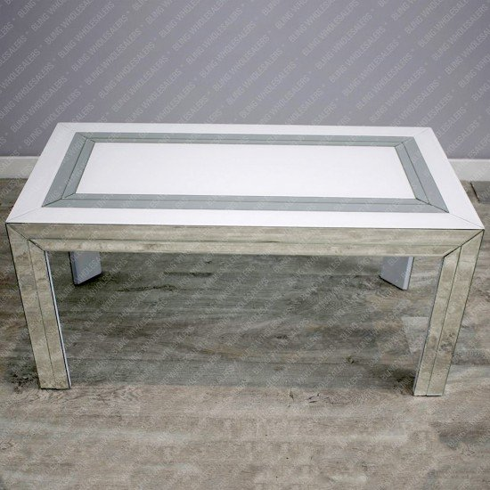Alba White Mirrored Coffee Table