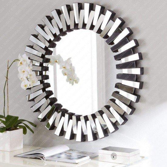 Andrea 3D Sunburst Venetian Round Mirror