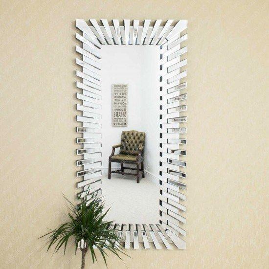 Andrea 3D Sunburst Venetian Rectangular Mirror