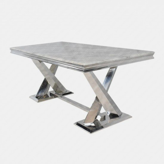 Chester Marble Dining Table with Stainless steel legs