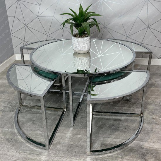 Ethan Round Coffee Table set