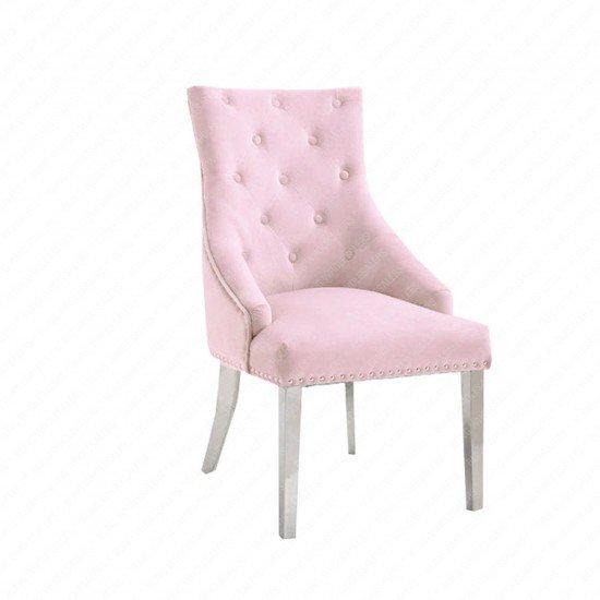 Duke Dining Chair with Plain Ring Knocker back