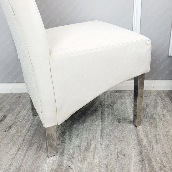 Alaina 1.8m Marble Dining Table with 6 Emma Lion Knocker back Dining Chairs