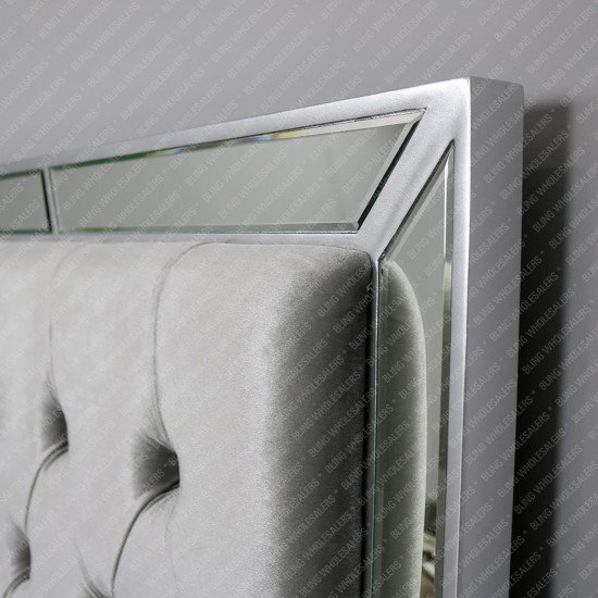 Marcella Stunning Mirrored King size Bed