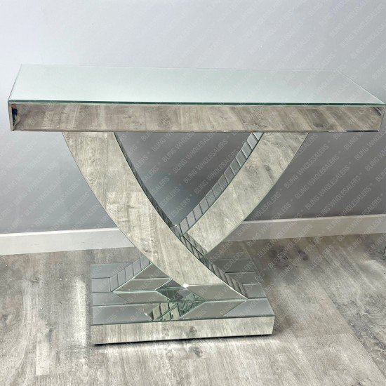 Marcella Simply Mirrored Swift Console Table