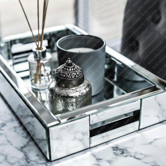 Myra Elegant Mirrored Tray