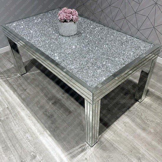 Nova Crushed Diamond Dining Table