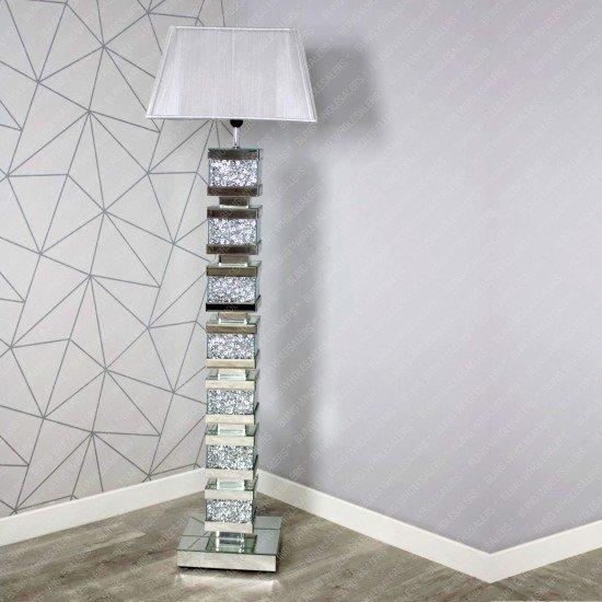 Thea New Crushed Diamond Floor Lamp