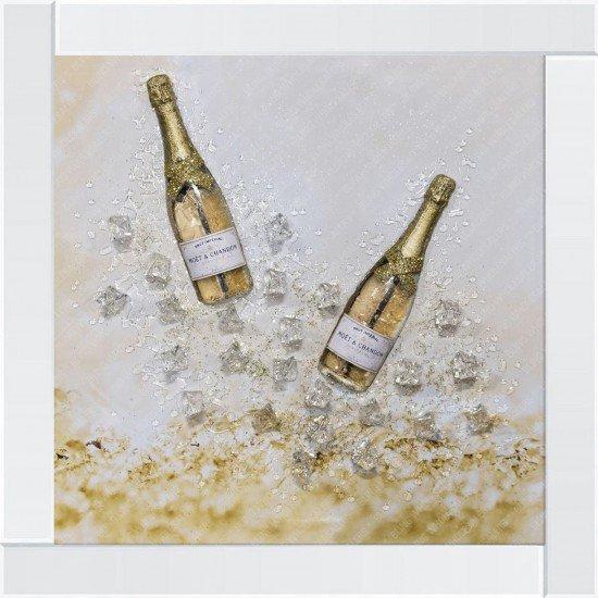 Tove 3D 2 Champagne Bottles & Ice Frame