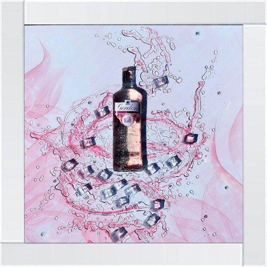 Tove 3D 2 Gordons Gin Bottles & Ice Frame