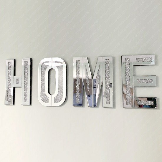 Tove Crushed Diamond Mirrored Home Letters