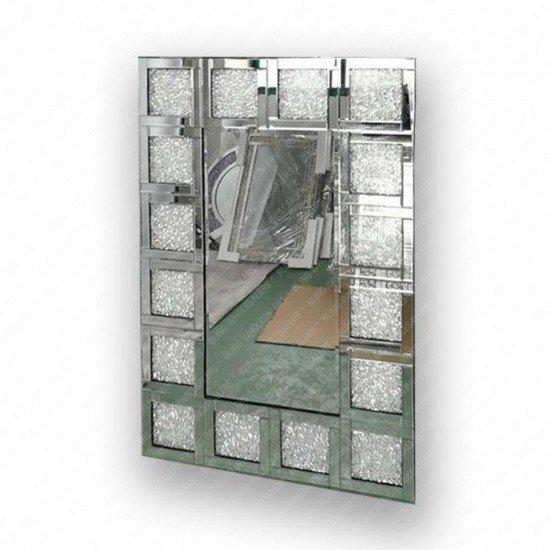 Venus Crushed Diamond Block Mirror