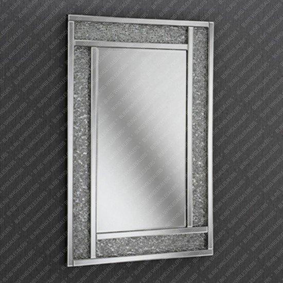 Venus Crushed Diamond Silver Crystal Effect Mirror
