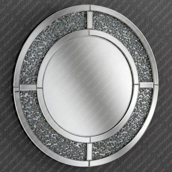Venus Crushed Diamond Round Mirror