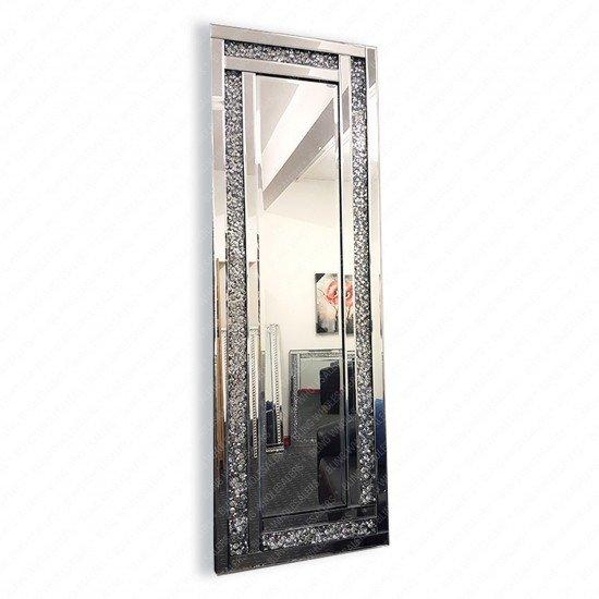 Venus Crushed Diamond Crystal Rectangular Wall Mirror