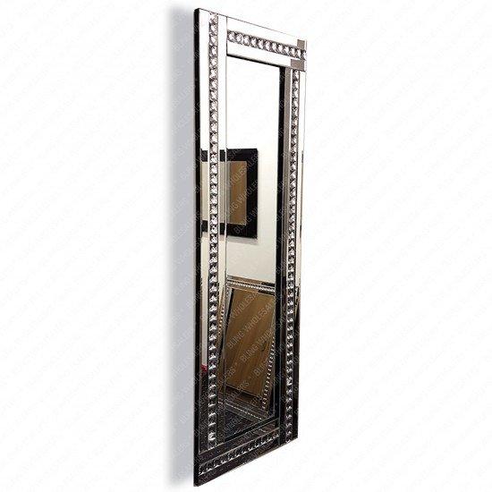Venus Crushed Diamond Crystal Studded Rectangular Wall Mirror